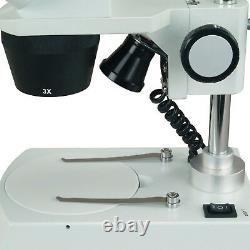 OMAX 10X-30X Cordless Binocular Stereo Microscope with LED Lights, 1.3MP Camera