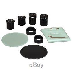 OMAX 20X-40X-80X Binocular Stereo Microscope Dual Lights + 2MP Digital Camera