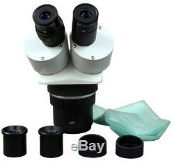 OMAX 20X-40X-80X Stereo Binocular Microscope+Bright 6W LED Dual Gooseneck Light