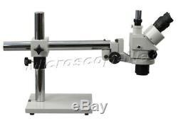OMAX 3.5X-90X Boom Stand Trinocular Stereo ZOOM Microscope Long Working Distance