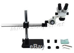 OMAX Boom Stand Binocular Zoom Stereo Inspection Microscope 10X-80X