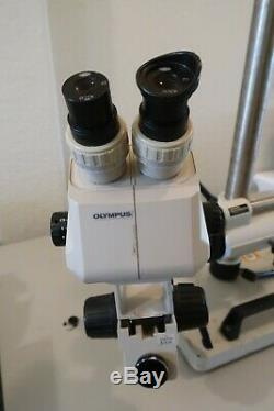 Olympus SZ-4045 Stereo/Zoom microscope + Diagnostic Instruments Boom Stand
