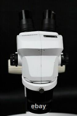 Olympus SZ-61 Stereo Zoom Microscope with Stand & Ring Light Adapter, SZ61, 10x/22
