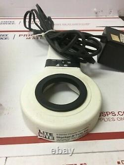 Olympus SZ Stereo Microscope G10X Eyepieces Stand Camera Port & MTI 65 Camera