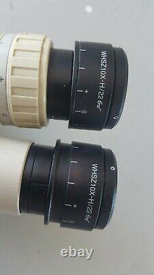 Olympus SZ4045 SZ40 Stereo Zoom microscope with WF10x eyepieces and bracket