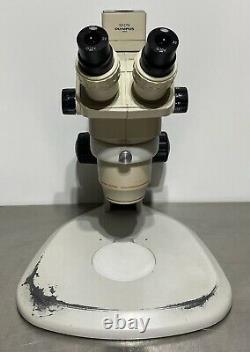 Olympus SZ6045 SZ60 SZ-CTV Trinocular Stereo Microscope on Nikon C-PS Stand