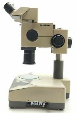 Olympus SZH10-141 Stereo Microscope, 0.7-7x Mag, Darkfield/Brightfield, 115VAC