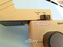 Olympus SZH10 Stereo Microscope, 0.75x obj, SZH-UTIL2 trinocular, 10x eyepieces