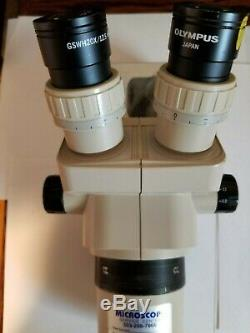 Olympus Stereo Zoom SZ60 Microscope with20x Eyepieces and 0.5x and 0.75x lens