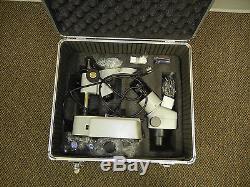 Omano OM2344B 7.5X-45X Binocular Stereo Zoom Microscope. Double wide base
