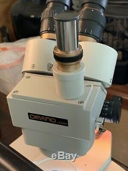 Omano Zoom Stereo Trinocular Microscope with case. Lightly used, GIA