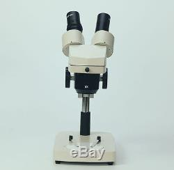 PCB Gem Inspection Dissection Binocular Stereo Microscope WF10X/15X with Ring Lamp