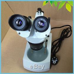 PCB Repair Soldering Binocular Stereo Microscope 110V 220V Halogen Lamp Lighted