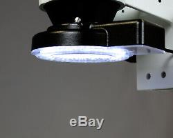 Parco Scientific 7X45X Binocular Zoom Stereo Microscope, 144-LED 4-Zone Light