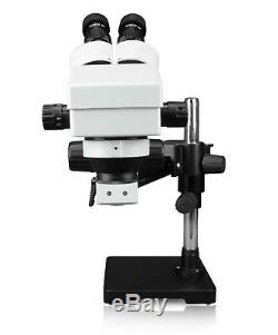 Parco Scientific 7X45X Binocular Zoom Stereo Microscope, Gliding Arm Boom Stand