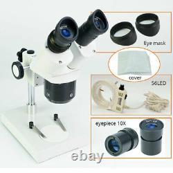 Professiona Binocular Stereo Microscope 2X4X Objec Lens For Mobile Phone Repair