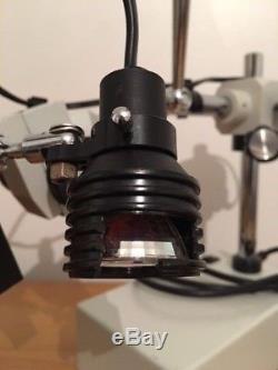 Professional Boom-Arm Binocular Stereo Microscope