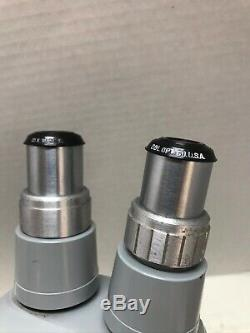 REFURBISHED B&L 10x 20x Stamps GEM Bausch & Lomb STEREO Zoom Microscope #1616