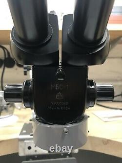 Russian Stereo Microscope LOMO / LZOS MBS-1 MBC-1 -1 For Micro setting Gems
