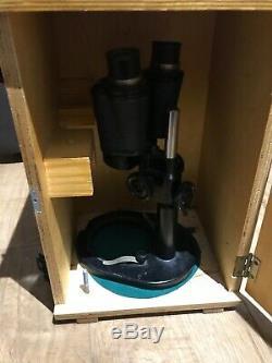 Russian'lomo' Watch Maker Binoculars, Stereo Microscope, Bm-51-2, Cased