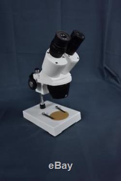 S1 20x-40x Binocular Stereo Microscope ring pole stand