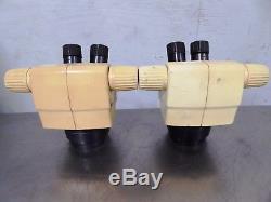 S142300 Lot (2) Leica GZ4 Binocular Stereo Zoom Microscope Heads