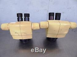 S142855 Lot (2) Leica GZ4 Binocular Stereo Zoom Microscope Heads