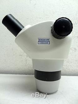 SCIENSCOPE NZ SERIES STEREO ZOOM BINOCULAR MICROSCOPE HEAD (0.8x 5x)