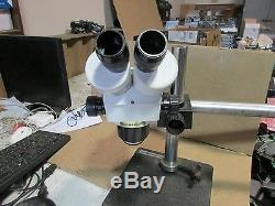 SCIENSCOPE Stereo Zoom Binocular Microscope Head with2x- 10x/21 Eyepieces, STAND
