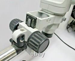 SSZ Scienscope Stereo Zoom Binocular Microscope Head with boom stand