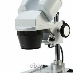 SWIFT 10X 30X Upper Bottom Dual Light Lab PCB Watch Repair Stereo Microscope