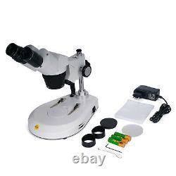 SWIFT 20X/40X/80X Cordless Binocular 2 LED 360 Battery Power Stereo Microscope
