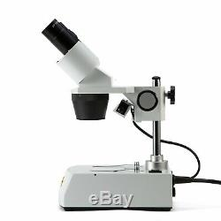 SWIFT 20X-40X-80X Forward Lab Top & Bottom Light Binocular Stereo Microscope