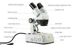SWIFT 20X/40X/80X Upper Lower Light Dissecting Stereo Microscope +2MP Camera