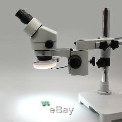 SWIFT 3.5X-90X Binocular Stereo Zoom Microscope on Boom Stand with 144-LED+3MP Cam