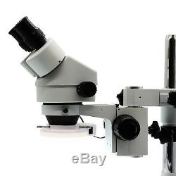 SWIFT 3.5X-90X PCB Boards Repair 144 LED Light Stereo Microscope on Boom Stand