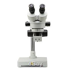 SWIFT 3.5X-90X Zoom Stereo LED Ring Light Microscope on Boom Stand with 5MP Camera