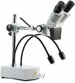 SWIFT S41-20 Professional Binocular Stereo Microscope, 10X 20X, Boom Arm