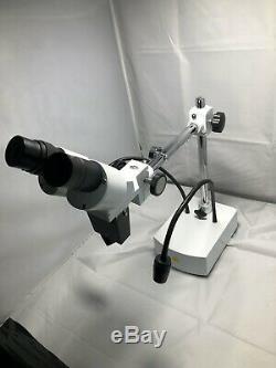 SWIFT SS41-20 WF10X-20X LED Boom Stand Professional Binocular Stereo Microscope
