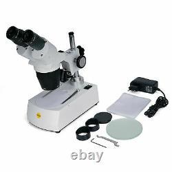 SWIFT Stereo Microscope 20X-40X-80X Multi-Use 360° Rototable Head Cordless 2 LED