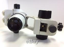 Scienscope SSZ Model Stereo Zoom Binocular Microscope Head No Eyepieces, Stand