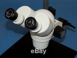 Scienscope XTL 88mm Microscope WF10X Eyepiece Binocular Stereo Zoom & Boom Stand