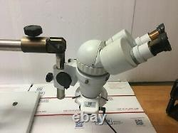 Scienscope XTL-V Stereo Zoom Microscope 10X Eyepieces withBoom Stand and light