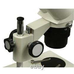 Stereo Binocular Microscope 10X-20X-30X-60X with8W Ring Light