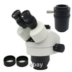 Stereo Microscope Head Binocular Simul-focal Up-right Optical Zoom Eyepiece 20x