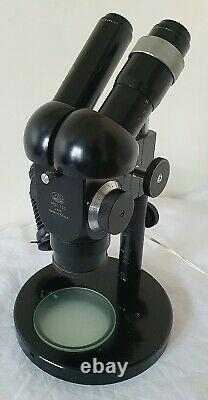 Stereo PZO MST 130 Microscope 0.63 1 With Lighting & Accessories