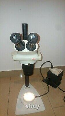 Stereo zoom microscope Leica S6E with Illuminated Base & L2 Lamp Power Supply