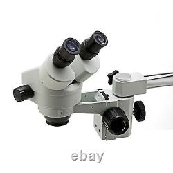 Swift 7X-45X Zoom Indusrty Stereo Microscope with Single Arm Boom Stand