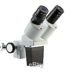 Swift Optical 10X-20X LED Binocular Stereo Microscope Boom Arm + LED Gooseneck