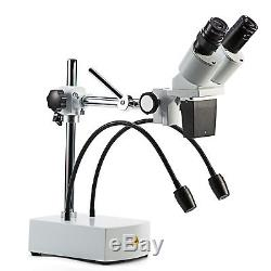 Swift Optical WF10X-20X LED Boom Stand Professional Binocular Stereo Microscope